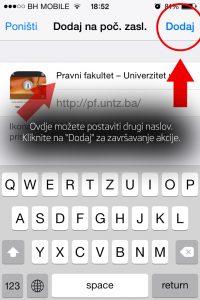 "Korak 4: Izmjenite naslov ikone ukoliko želite i kliknite na opciju ""Dodaj"""